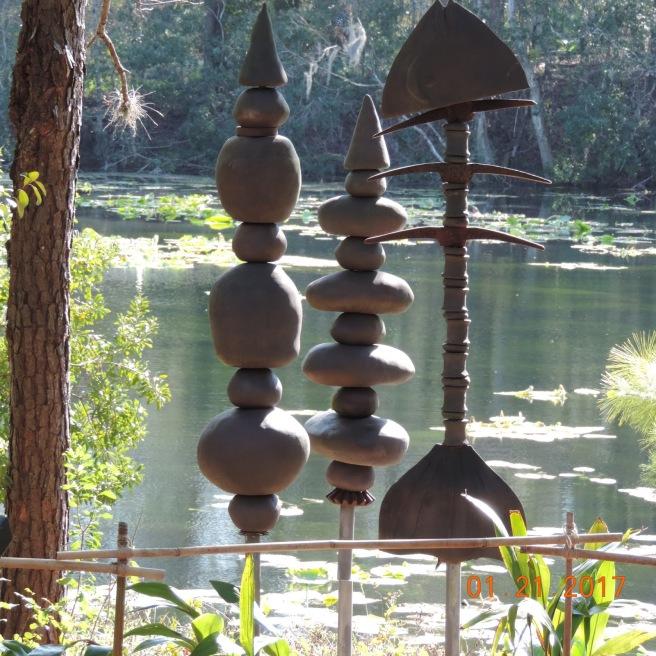 Sculpture Near the lake